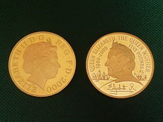 "Groot-Brittannië - 5 pond 2000 ""The Queen Mother Centenary Year"" - goud"