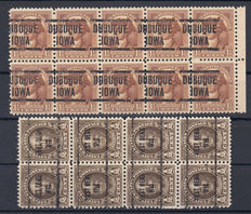 United States - Lot containing precancels on cards