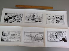 England - Lot with 6 original Candid Cartoons by Kem - WWII - 1939
