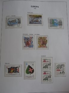 Europa Stamps 1980/1986 - Collection CEPT and followers in Davo album with box