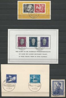 GDR 1950/1958 - Selection of stamps, blocks and FDC