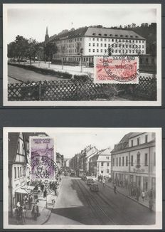 Saarland 1948/1951 - Selection of cards and FDC