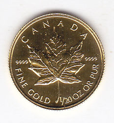 Canada - 1 dollar 1997 Maple leaf Goud