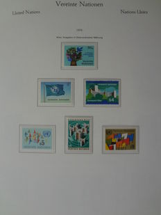 United Nations Vienna 1979/1999 - collection complete in the main numbers in preprinted album