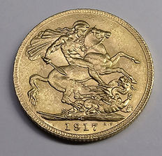 Canada - Sovereign, 1917C - George V - goud