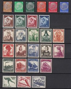 German Empire 1934/1935 - Collection - Michel 548/553, 565/568, 580/583, 588/597 and 600/602