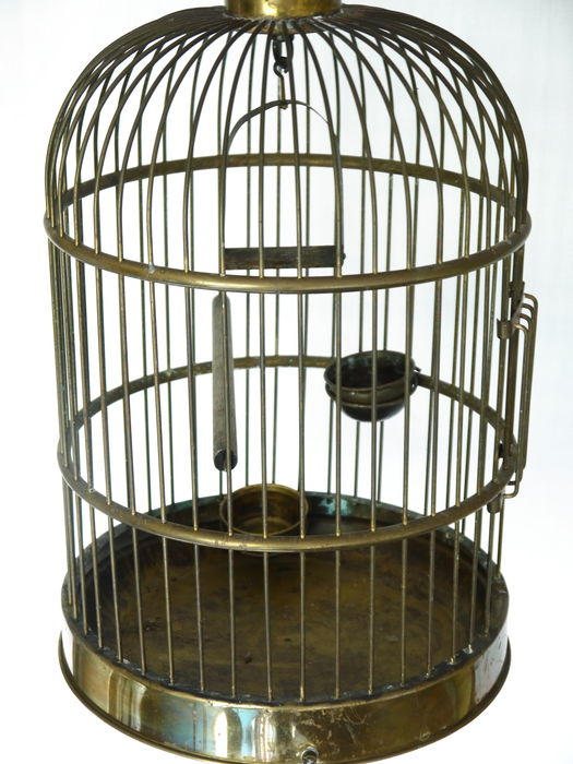Cage d 39 oiseau en laiton catawiki for Cage d oiseau decorative