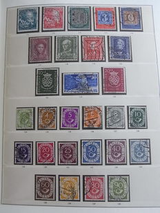 Federal Republic of Germany 1949/1954 - Complete collection on pages