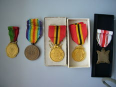 5 medals - various periods and designs