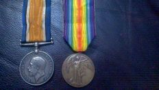 British war and victory medal.