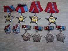 Very fine and hard to find set of original Vietnam medals, Vietnam War: Viet cong and NVA, 20th century