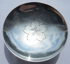 Japanese silver military sake Cup Okubo City; Imperial Army - Russo-Japanese War 1905