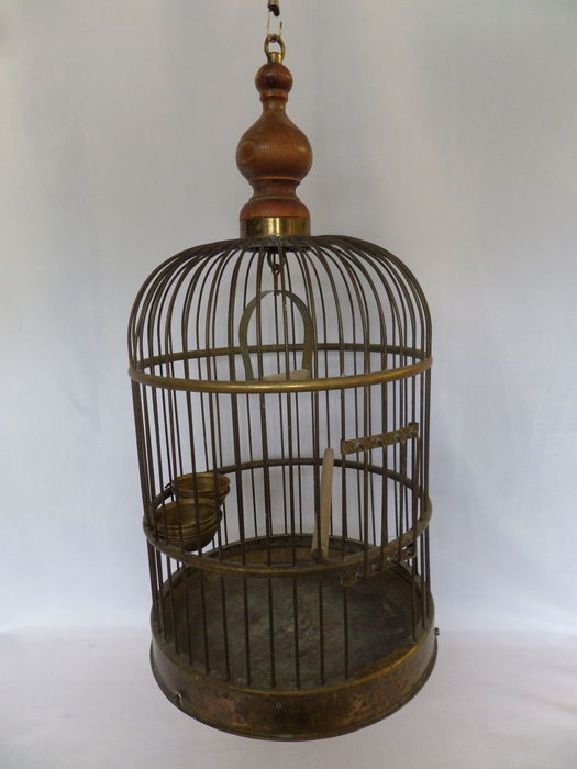 Cage d 39 oiseau d corative en cuivre catawiki for Cage d oiseau decorative