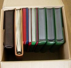 Whole world - Lot rest and part of collections in different inserting books and album