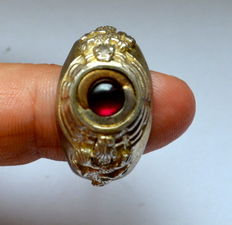 German Poison Ring Wehrmacht WW II 835th silver