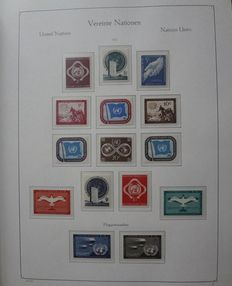 United Nations 1951/1987 - collection with additional individual stamps in preprinted album