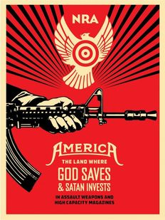 Shepard Fairey (OBEY) - God saves and Satan invest`s
