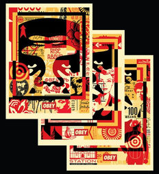 Shepard Fairey (OBEY) - Face Collage