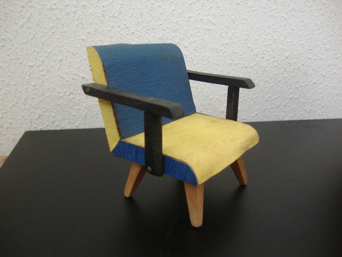 Four ´s wooden furniture miniatures catawiki