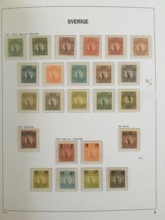 Sweden 1855/1969 - Collection incl. official and postage due stamps in Davo album