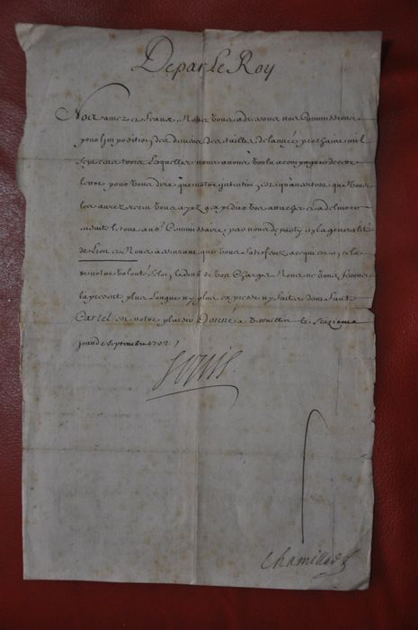 original manuscript hand signed of king louis xiv france. Black Bedroom Furniture Sets. Home Design Ideas
