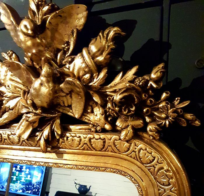 grand miroir baroque fran ais dor catawiki
