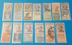 Italy 1924/1925 - 13 Advertising stamps