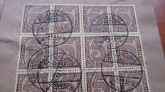 Germany - Lot of Old Germany, Bavaria, joint prints German Reich and inflation letter. tested