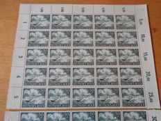 German Reich 1943 - Armed Forces I - Michel 831/842 in sheet/sheet parts per 50 pieces