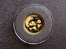 "China - 20 Yuan 2006 ""Two pandas eating bamboo"" - goud"