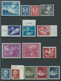GDR 1949/1950 - Two complete year collections - Michel 242/279 + block 7