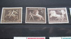 Germam Reich - Small selection including official stamps brown ribbon issues
