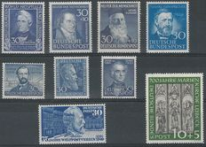 Federal Republic of Germany 1949/1953 - Selection of stamps