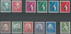 Germany 1949/1955 - Selection - Michel 111/112, 151, 155, 161, 173/176, 189x/190x, 200/203, 205/208 and 222/225