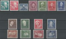 Federal Republic of Germany 1949/1952 - Selection - Michel 111/112, 117/120, 143/146, 150, 156/159