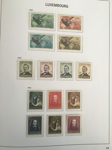 Luxembourg 1852/1959 - Collection in Davo Luxe album with box