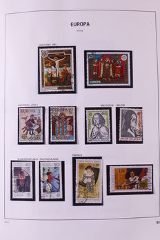 Europa Stamps 1975/1983 - Collection in DAVO album