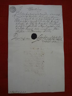 Austria 1762/1893 - Collection of 70 receipts with seal, fiscal marks and fiscal stamps
