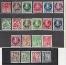 Berlin 1950/1953 - Small collection - Michel 71, 75/79, 80/81, 82/86, 88/90 and 106/109