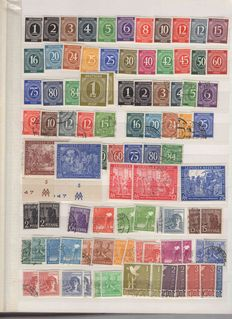 Germany 1945/2000 - Batch with joined issues, French Zone, Bizone and Federal Republic of Germany