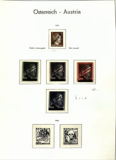 Austria 1945/1975 - Complete collection. Additionally Grazer and grid overprints and unissued 3 Pfennig Hitler, Michel AIV in clamp binder on preprint pages