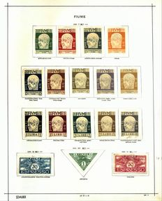 Fiume 1918/1924 - Advanced collection on album pages with Michel 98/113 and 154/167 MH