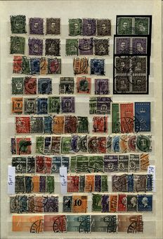 Denmark 1875/1982 - Specialized collection with Postage Due and Official stamps in a stock book
