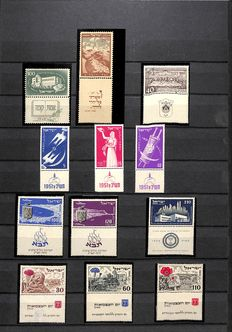 Israel 1951/1991 - Collection in stock book with Tab and Full Tab