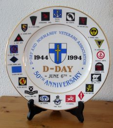 Commemorative plate - D-Day June 6th 1944-1994 (50th Anniversary) D-Day and Normandy Veterans Association