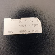 GDR 1957/1981 - Batch in 2 stock albums