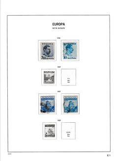 Europa stamps 1936/1974 - Collection including followers in Davo album