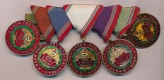 Set of medals for long service Hungary