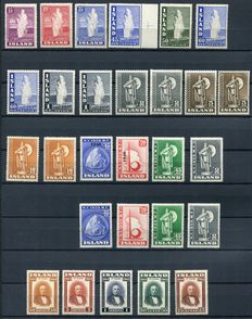 Iceland 1938/44 - Composition between Yvert 176 and 207