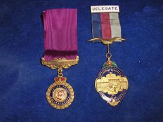 2 personal Freemasonry medals, 1x 1947, date of the other one unknown